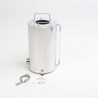 """Бак """"Термосфера"""" 18 литров (ф235/h400) индукционный + разъем для тэна + заглушка разъема + указатель уровня жидкости + регулируемые опоры."""