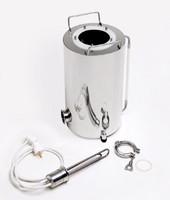 """Бак """"Термосфера"""" 18 литров (ф235/h400) индукционный + разъем для тэна + заглушка разъема + двойной тэн + указатель уровня жидкости + регулируемые опоры"""